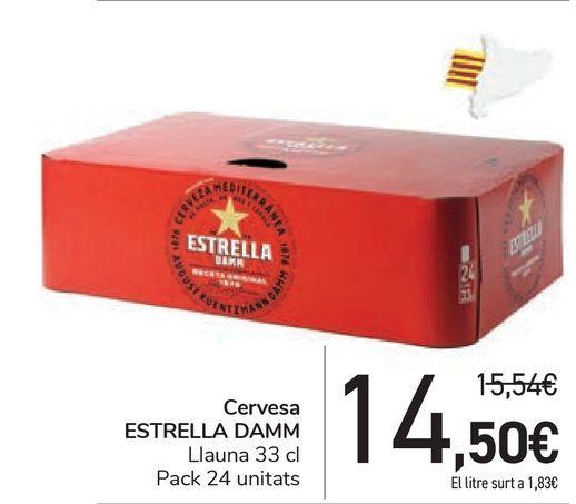 Oferta de Cerveza ESTRELLA DAMM  por 14,5€