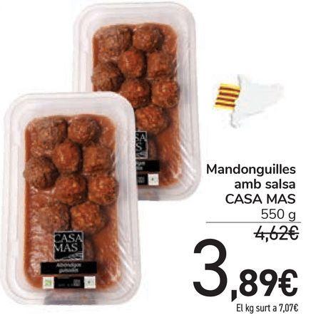 Oferta de Mandonguilles amb salsa CASA MAS por 3,89€