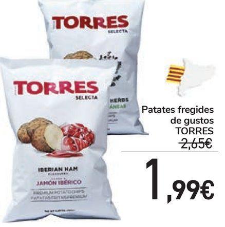 Oferta de Patates fregides de gustos TORRES  por 1,99€