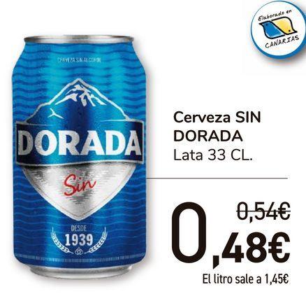 Oferta de Cerveza SIN DORADA  por 0,48€