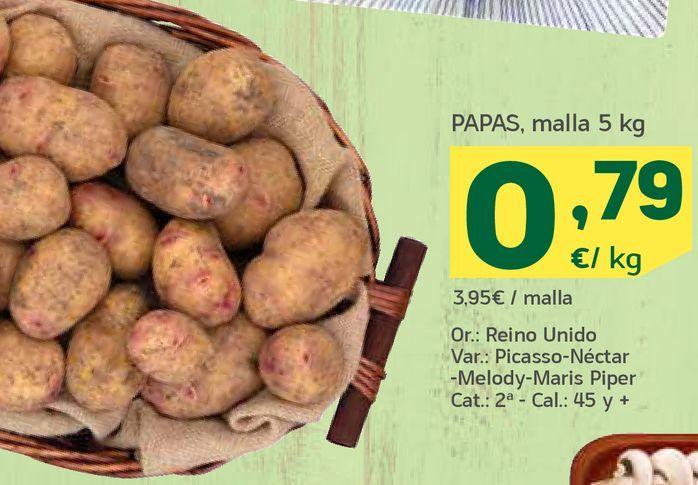 Oferta de Papas malla por 0,79€