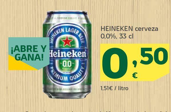 Oferta de Cerveza Heineken por 0,5€