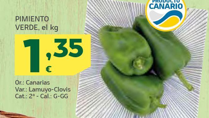 Oferta de Pimiento verde por 1,35€
