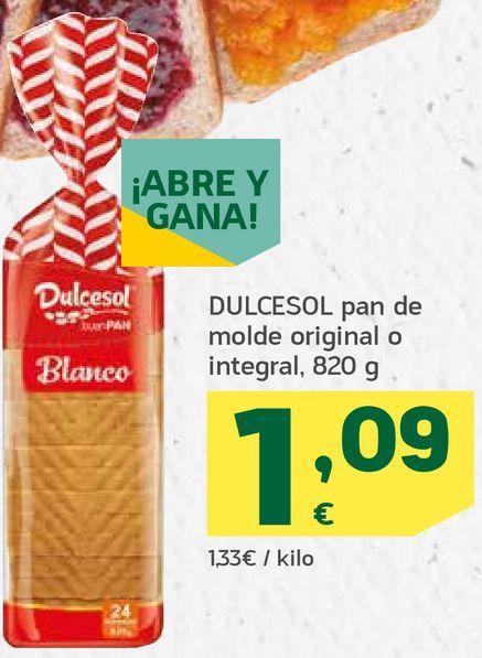 Oferta de Pan de molde original o integral por 1,09€