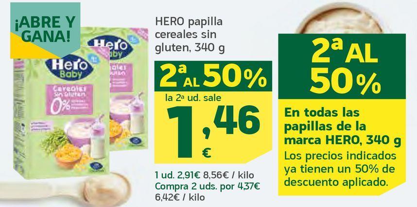Oferta de Papilla cereales sin gluten por 1,46€