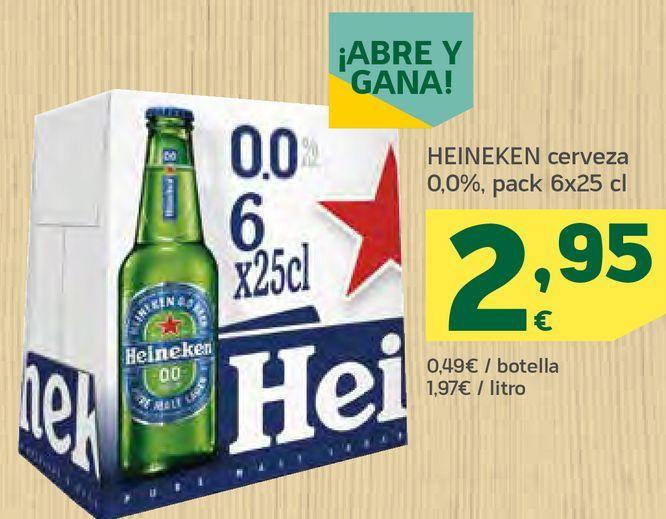 Oferta de Cerveza Heineken por 2,95€