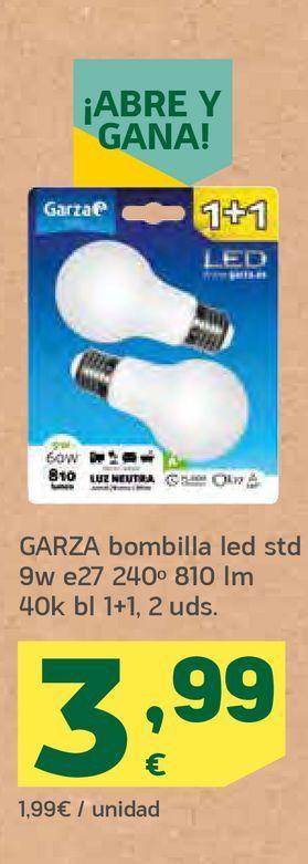 Oferta de Bombilla led Garza por 3,99€