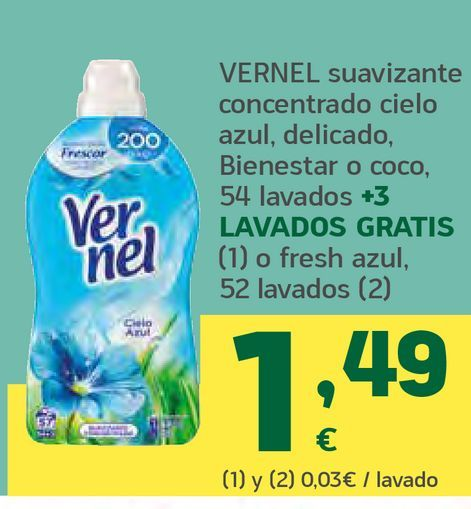 Oferta de Suavizante concentrado  por 1,49€