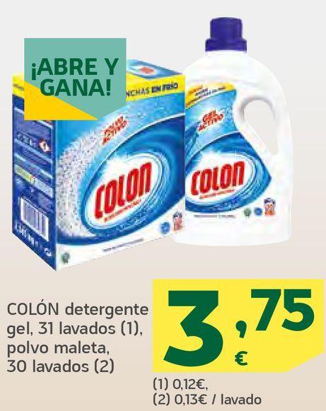 Oferta de Detergente gel, polvo maleta por 3,75€