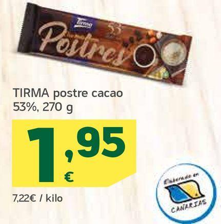 Oferta de Postre cacao por 1,95€