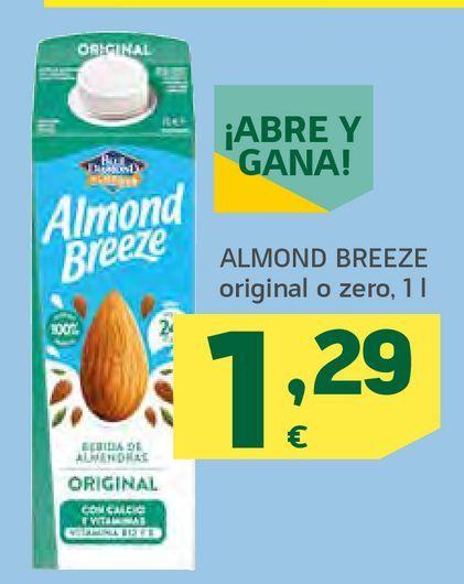 Oferta de Almond Breeze original o zero por 1,29€