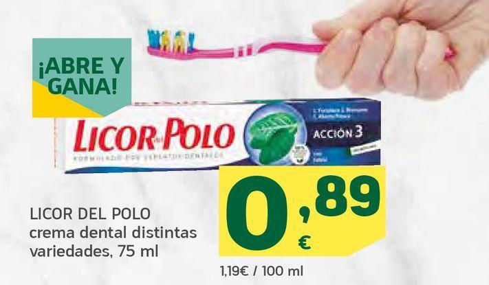 Oferta de Crema dental distintas variedades por 0,89€