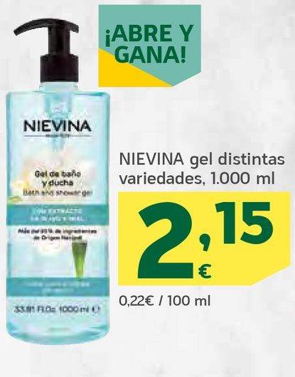 Oferta de Gel distintas variedades por 2,15€