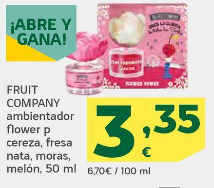 Oferta de Ambientador flower cereza, fresa, nata, moras, melón por 3,35€