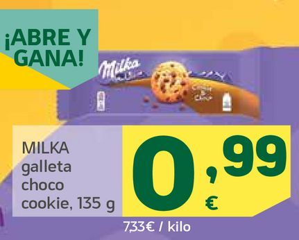 Oferta de Galleta choco cookie por 0,99€