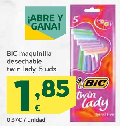 Oferta de Maquinilla desechable por 1,85€