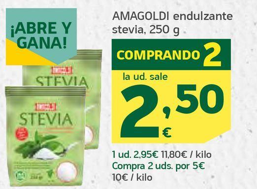 Oferta de Endulzante estevia por 2,59€