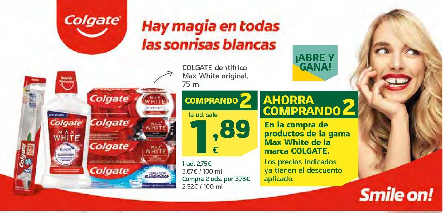 Oferta de Pasta de dientes Colgate por 1,89€