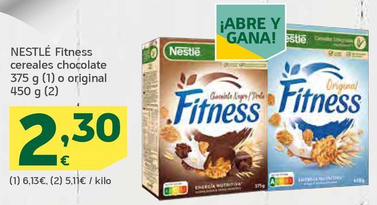 Oferta de Fitness cereales chocolate o original por 2,3€