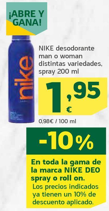 Oferta de Desodorante man o woman por 1,95€