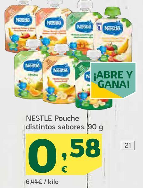 Oferta de Pouche distintos sabores por 0,58€