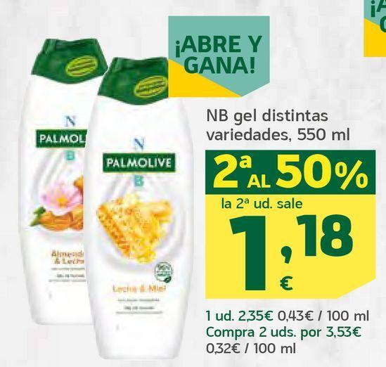 Oferta de Gel distintas variedades por 1,18€