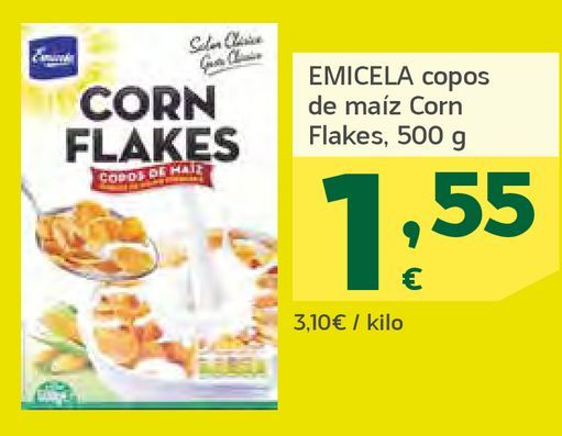 Oferta de Copos de maíz por 1,55€