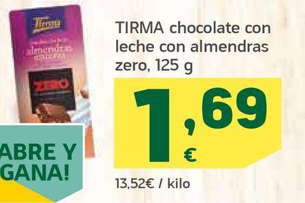 Oferta de Chocolate con leche con almendras por 1,69€