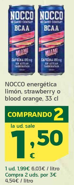 Oferta de Energética limón, strawberry o blood orange por 1,5€