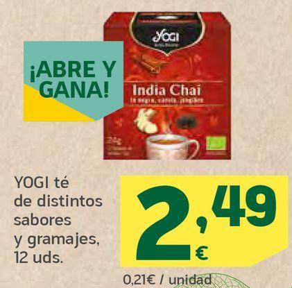 Oferta de Té de distintos sabores y gramajes por 2,49€