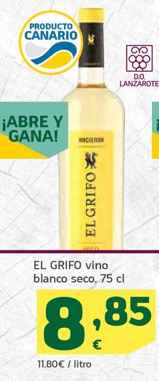 Oferta de Vino blanco seco por 8,85€