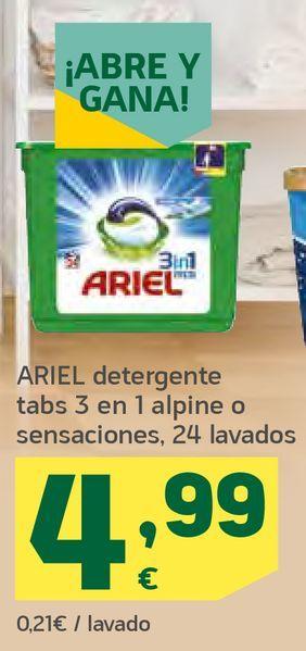 Oferta de Detergente Ariel por 4,99€