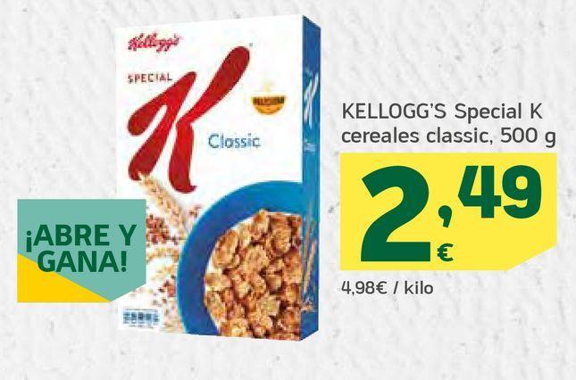 Oferta de Special K cereales classic por 2,49€