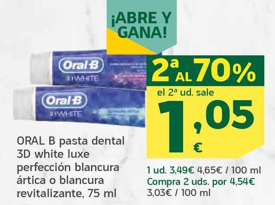 Oferta de Pasta dental 3D white luxe por 1,05€