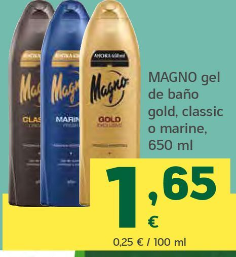 Oferta de Gel de baño gold, classic o marine por 1,65€