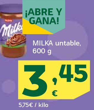Oferta de Milka untable por 3,45€
