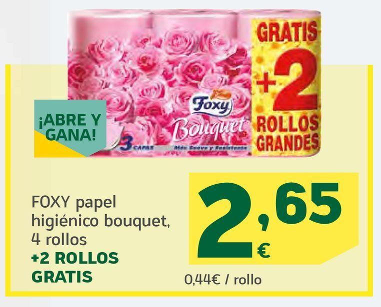 Oferta de Papel higiénico bouquet por 2,65€
