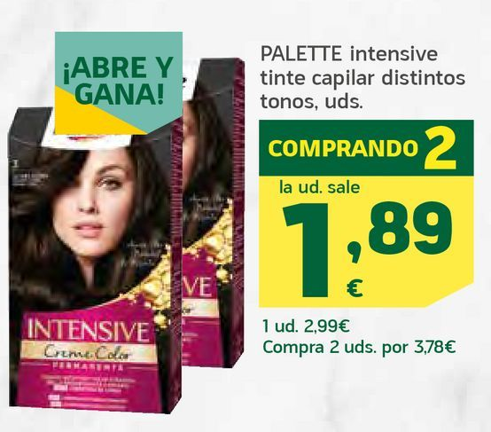Oferta de Intensive tinte capilar  por 1,89€