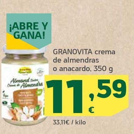 Oferta de Crema de almendras o anacardo por 11,59€