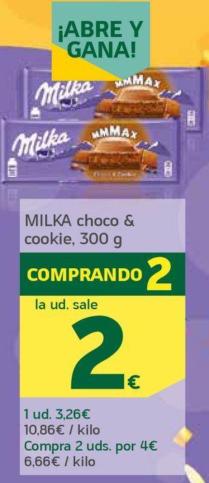Oferta de Choco y cookie por 2€