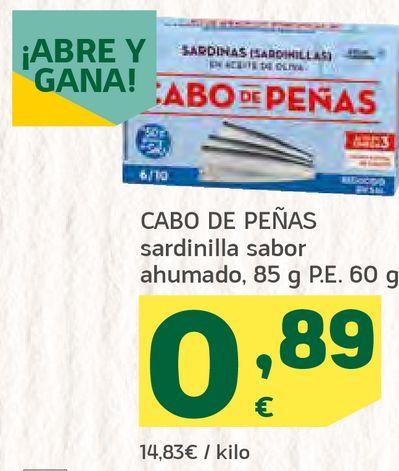 Oferta de Sardinilla sabor ahumado por 0,89€