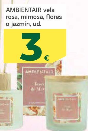 Oferta de Velas rosa, mimosa, flores o jazmín por 3€