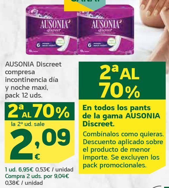 Oferta de Discreet compresas incontinencia día y noche maxi por 2,09€