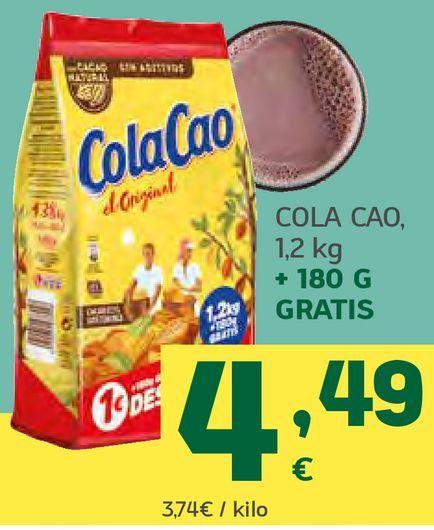 Oferta de Cola Cao por 4,49€