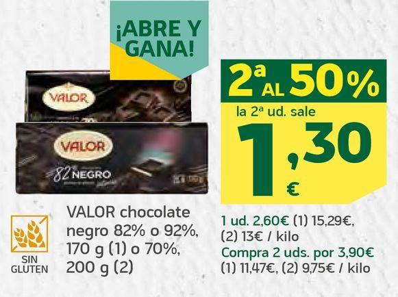 Oferta de Chocolate negro por 1,3€