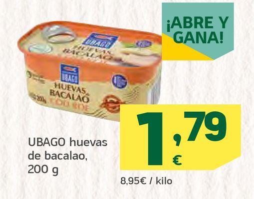 Oferta de Huevas de bacalao  por 1,79€