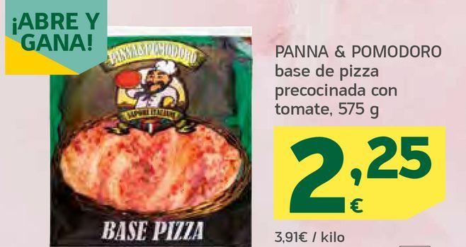 Oferta de Base de pizza precocinada con tomate por 2,25€