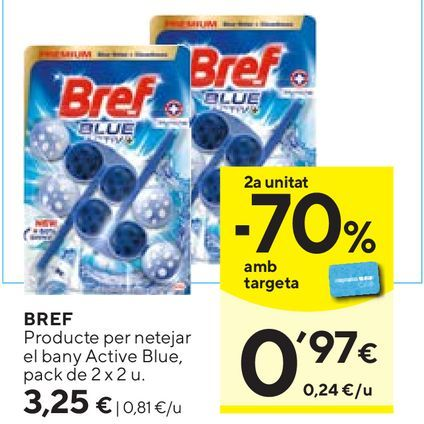 Oferta de Pastillas para wc Bref WC por 3,25€