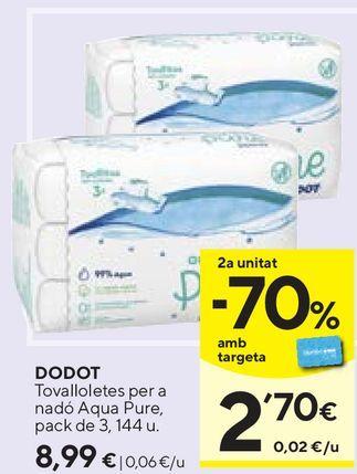 Oferta de Toallitas húmedas para bebé Dodot por 8,99€