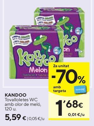 Oferta de Toallitas húmedas para bebé Kandoo por 5,59€